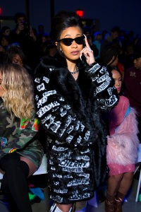 Cardi B attends the Jeremy Scott fashion show