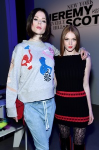 Coco Rocha and model Larsen Thompson NYFW