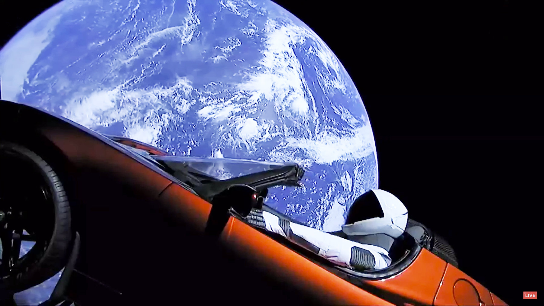 Elon Musk Tesla space