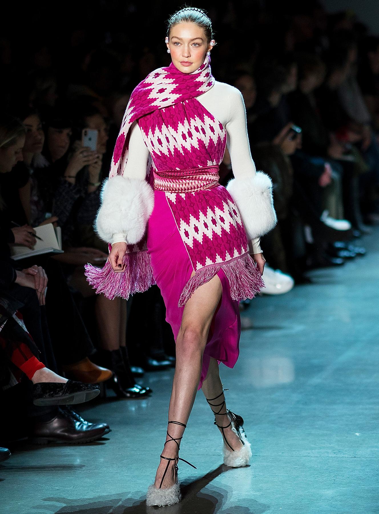 Gigi Hadid Prabal Gurung fashion show New York Fashion Week