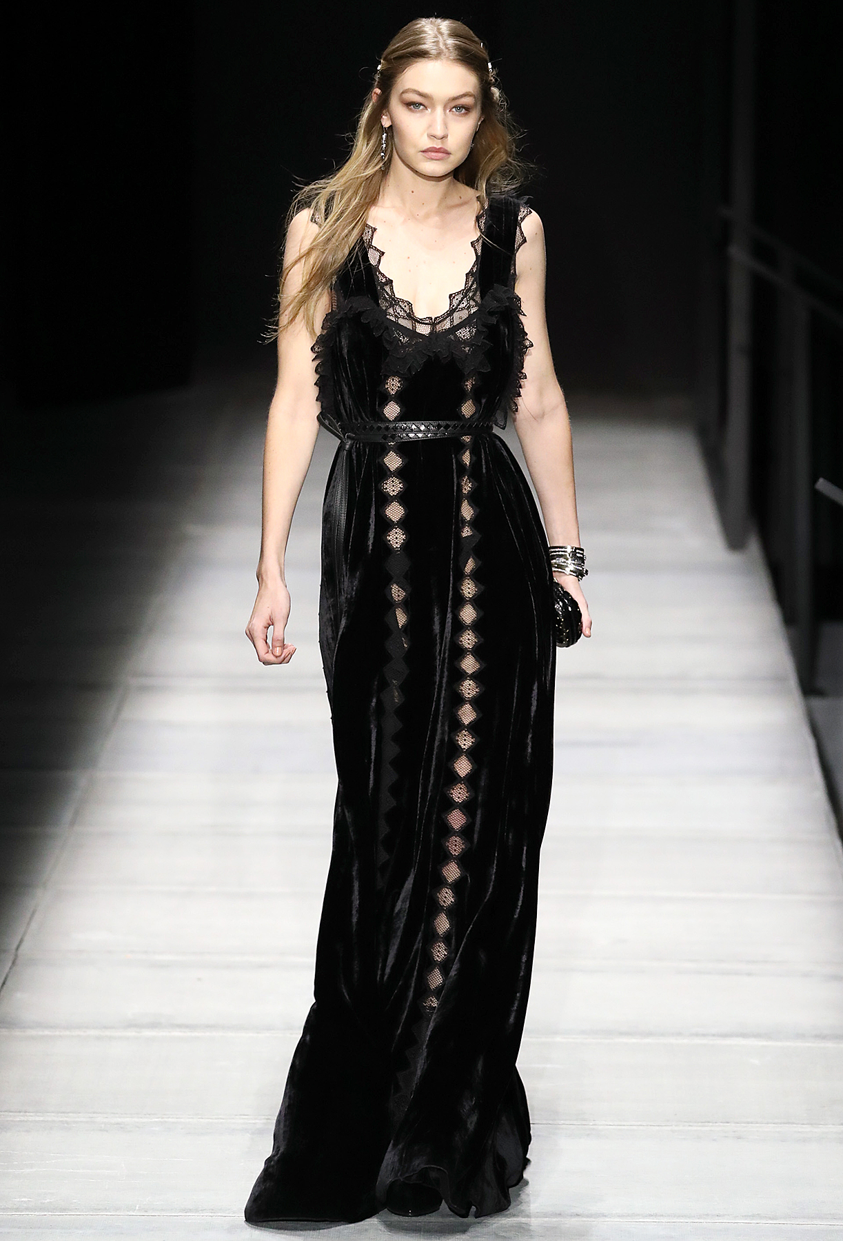 Gigi Hadid Bottega Veneta Fall/Winter 2018 Collection New York Fashion Week