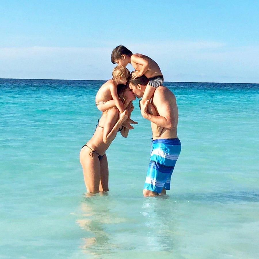 Gisele Bundchen, Tom Brady, son Benjamin and daughter Vivian