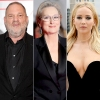 Harvey Weinstein, Meryl Streep, and Jennifer Lawrence