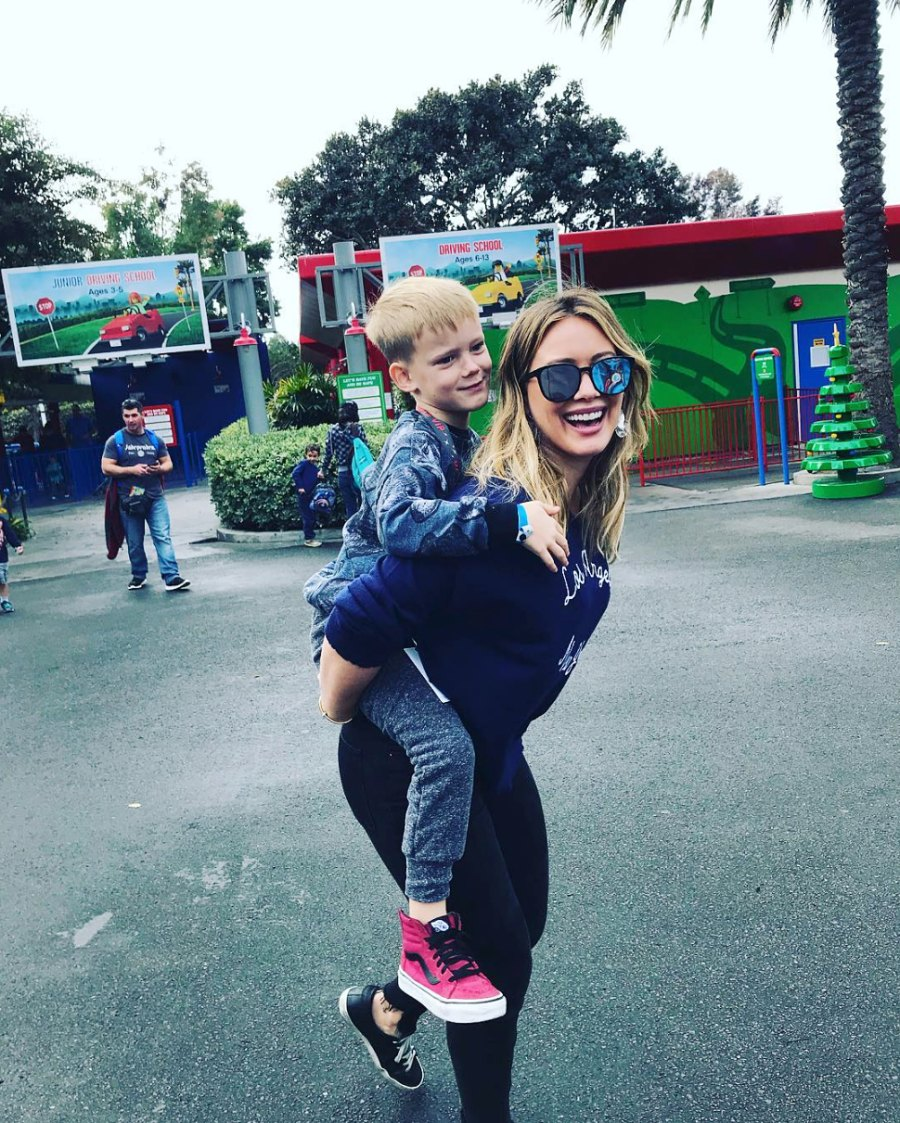 Young Hollywood Moms Hilary Duff Luca