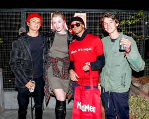 Ireland Baldwin hung out with friends at MedMen's event at The Ace Hotel in downtown L.A.