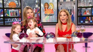 Jenna Bush Hager and her daughters Mila and Poppy on 'Today' show with Kathie Lee Gifford