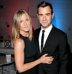 "Jennifer Aniston and Justin Theroux attend the ""Cake"" premiere during the 2014 Toronto International Film Festival at The Elgin on September 8, 2014 in Toronto, Canada."