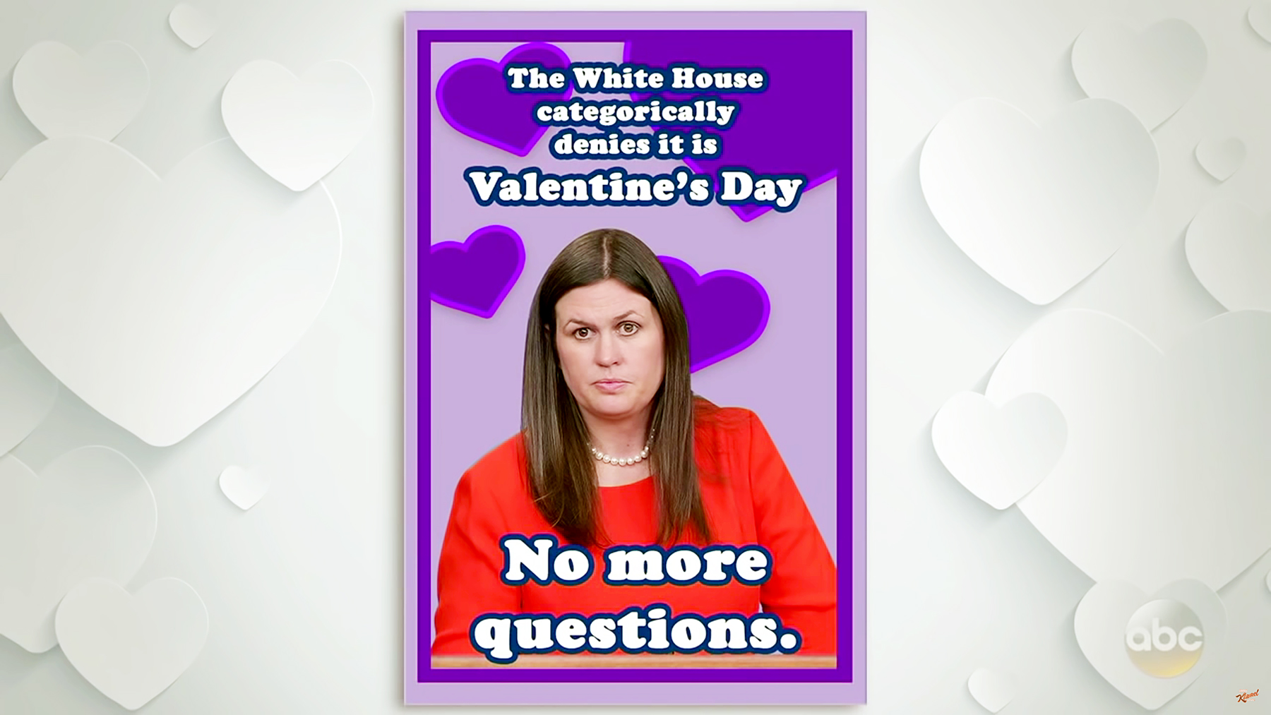 Jimmy Kimmel Mocked Trump Administration With Valentine S Day Cards