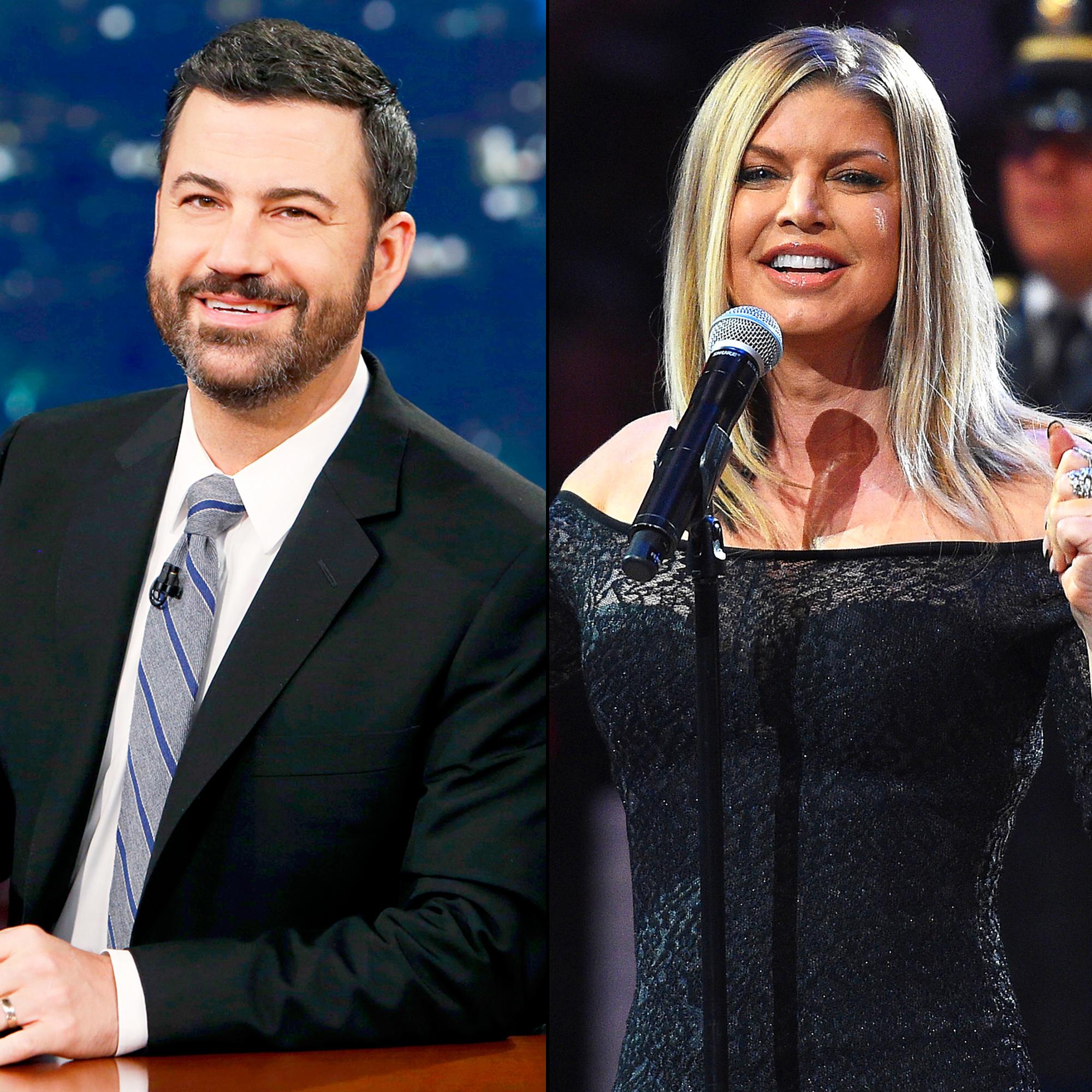 Jimmy Kimmel Explains His Smiling Reaction To Fergies National