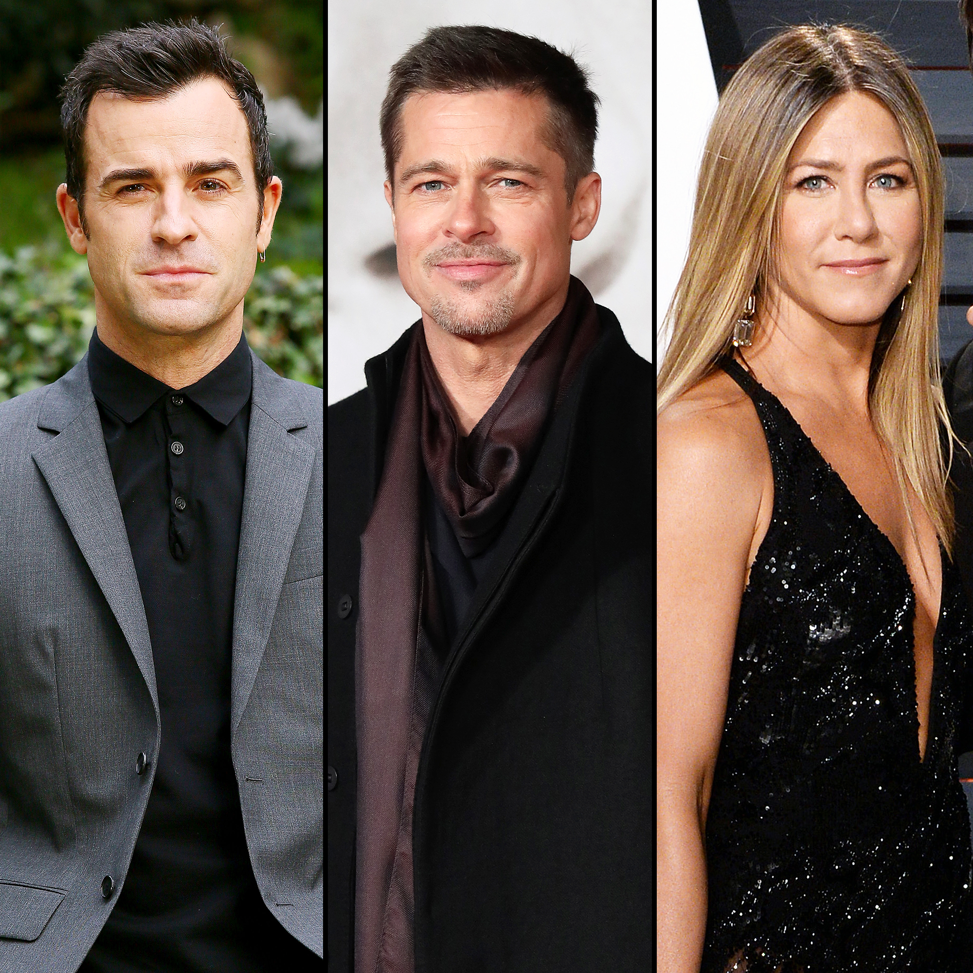Justin Theroux Brad Pitt Jennifer Aniston Post Its