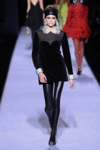 Kaia Gerber walks the runway at the Tom Ford Womenswear FW18 Collection