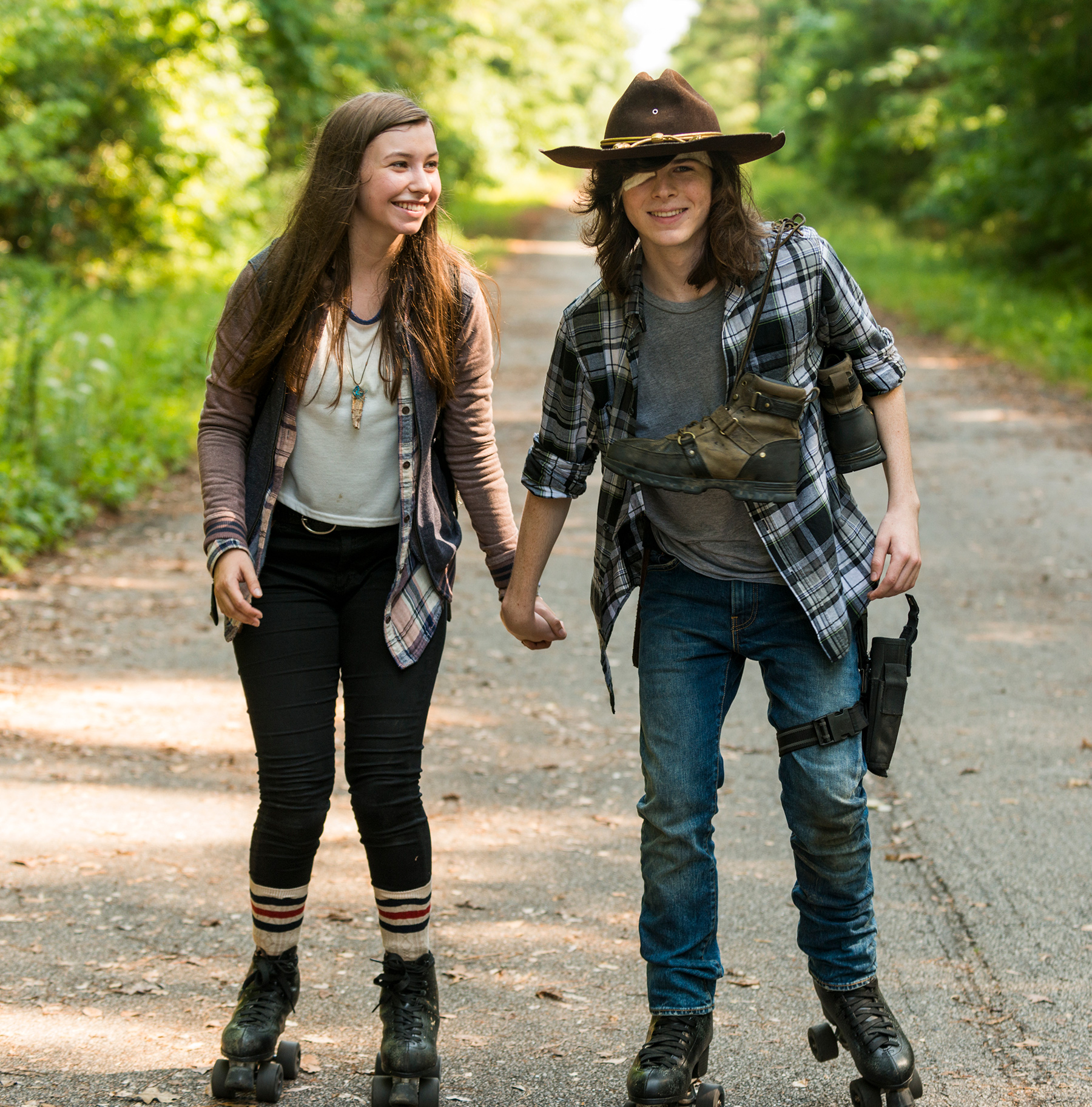 Katelyn Nacon and Chandler Riggs