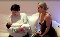 Kylie Jenner and Kim Kardashian with Chicago Family Gallery