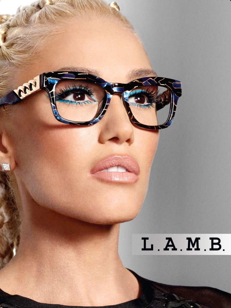 Shell Gift Card >> Gwen Stefani Spring 2018 L.A.M.B. x Tura Glasses Interview