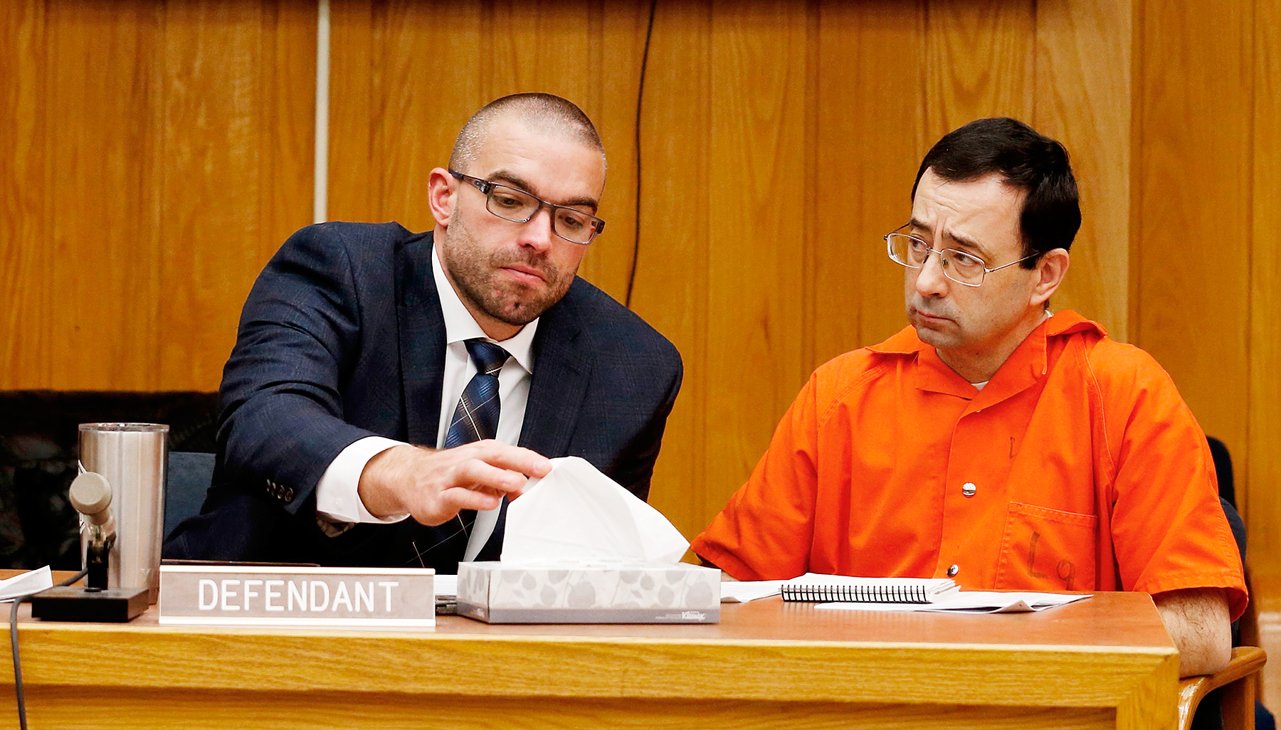 Father of Larry Nassar Victim Tries to Attack Him in Court - photo#24