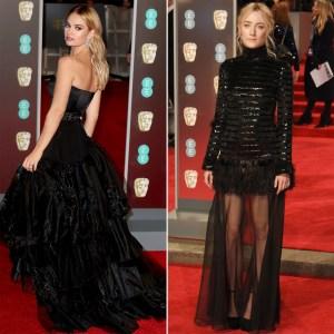 Lily James and Saoirse Ronan BAFTA