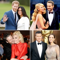 Prince Harry Meghan Markle Blake Lively Ryan Reynolds Blake Shelton Gwen Stefani Brad Pitt Angelina Jolie Love Story Beginnings