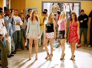 Lindsay Lohan, Amanda Seyfried, Rachel McAdams and Lacey Chabert on 'Mean Girls'
