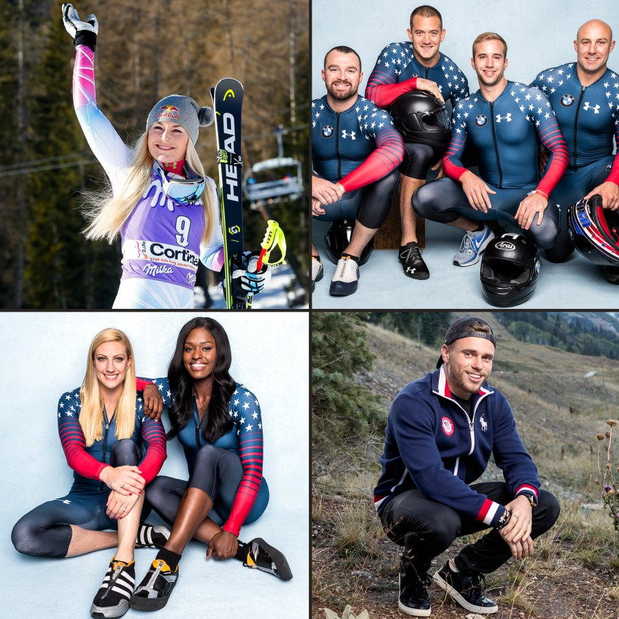 Lindsey Vonn, Carlo Valdes, Justin Olsen, Evan Weinstock, Nick Cunningham, Gus Kenworthy, Jamie Greubel Poser, Aja Evans, 2018 Olympics, Team USA