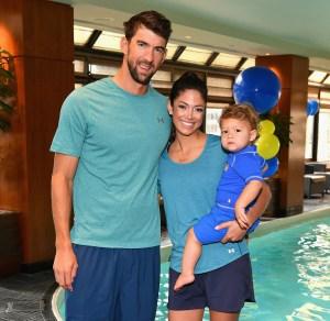 Michael Phelps, Nicole Phelps and Boomer Phelps