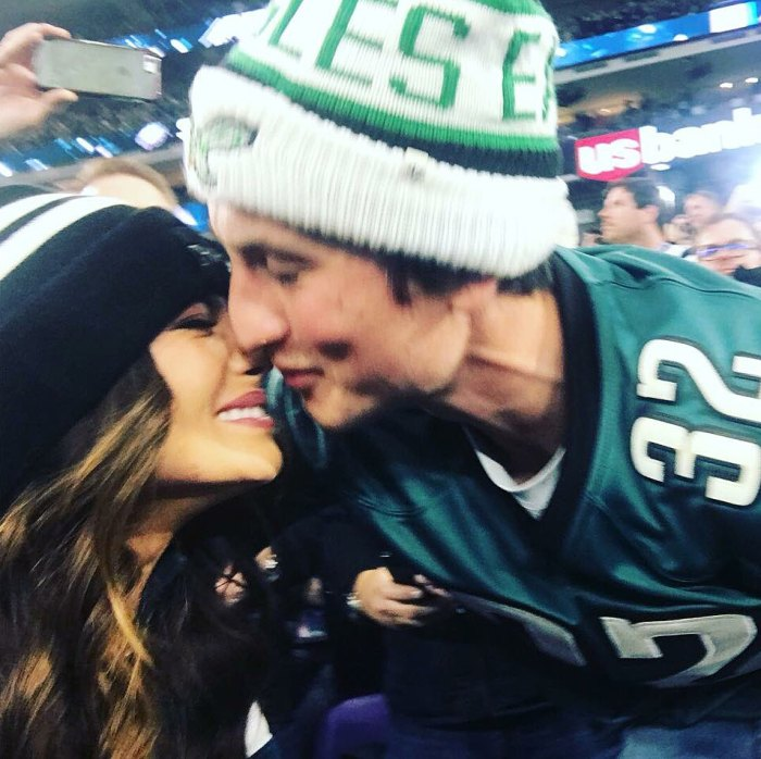 Miles Teller Kaleigh Sperry Super Bowl