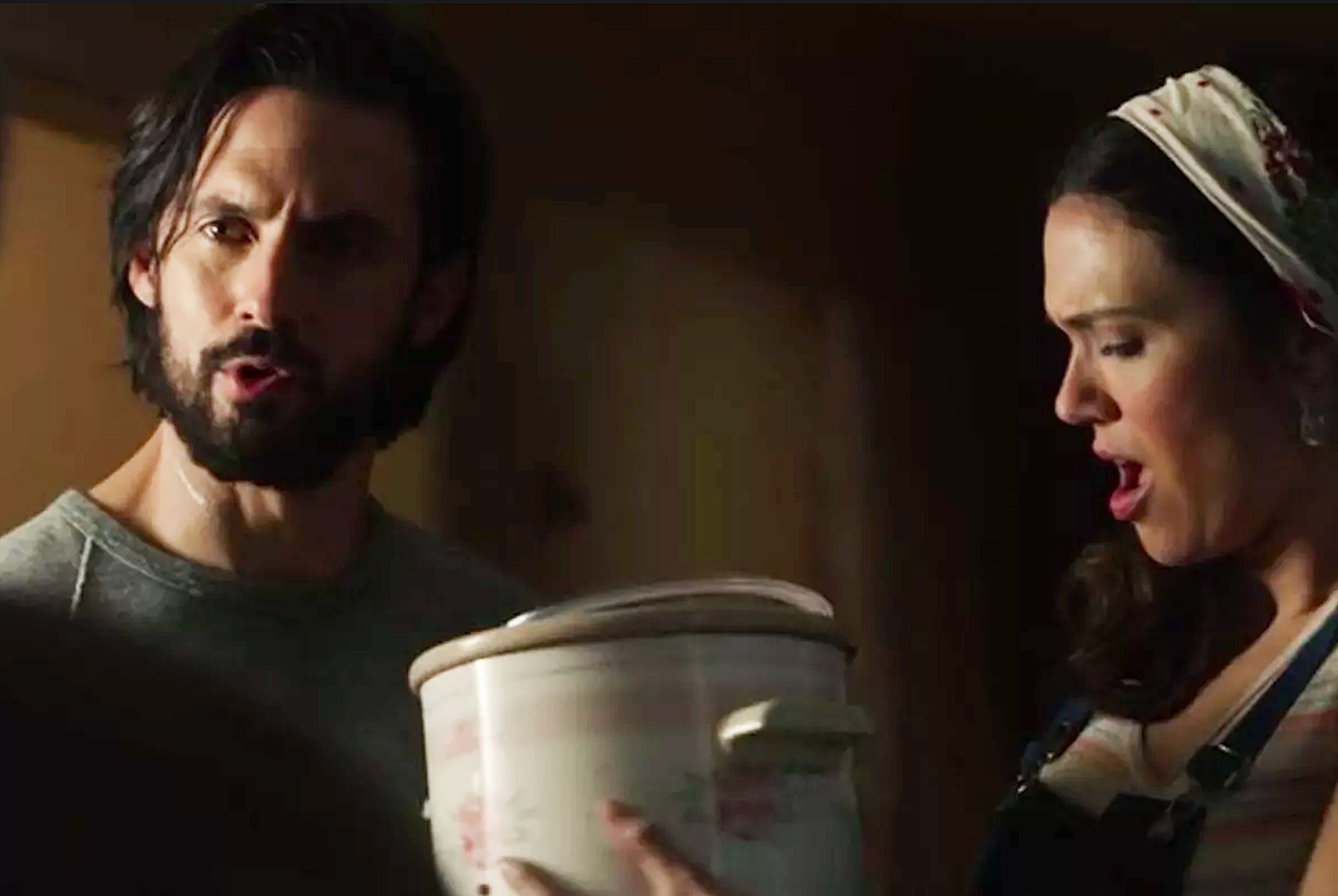 Milo Ventimiglia Mandy Moore crock pot This Is Us