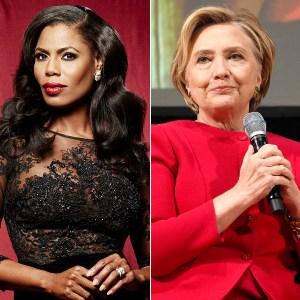Omarosa and Hilary Clinton