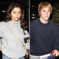 Selena Gomez Justin Bieber church service hockey game