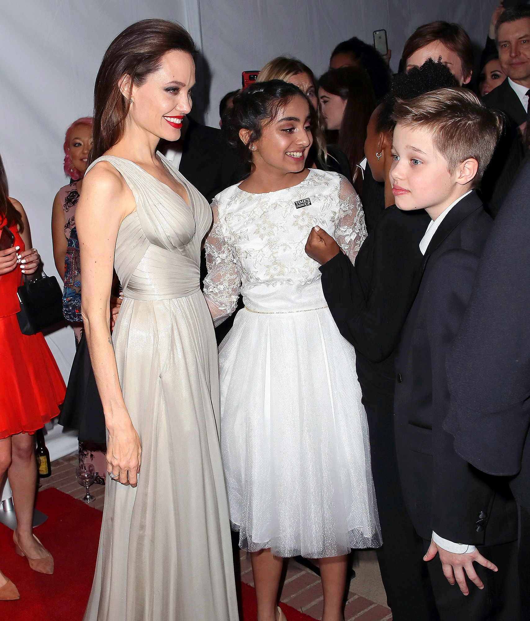 Angelina Jolie Brings Daughters Shiloh Zahara To Annie