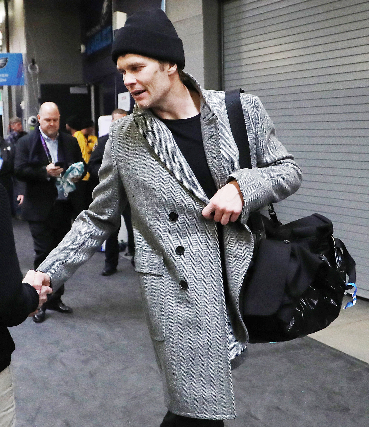 Tom Brady peacoat