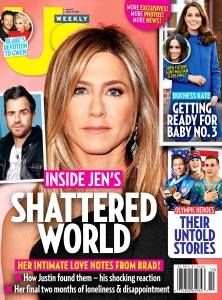 Us Weekly cover Jennifer Aniston Justin Theroux