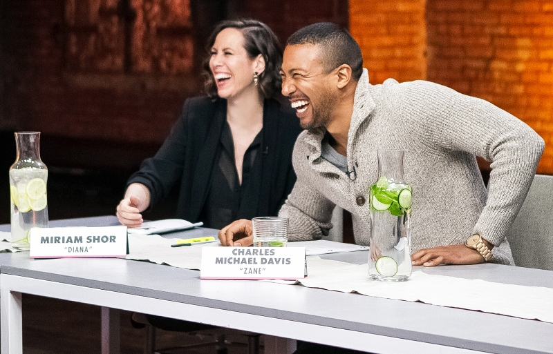 Miriam Shor Charles Michael Davis Younger Cast Reunite For First Table Read