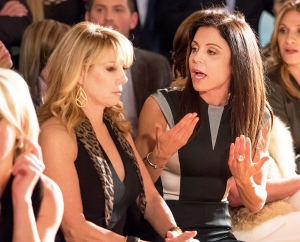 Ramona Singer and Bethenny Frankel attend the Sonja Morgan New York Brands Launch 2015 Event at Carriage House Center For The Arts in New York City.