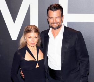 Fergie and Josh Duhamel attend the Tom Ford Autumn/Winter 2015 Womenswear Collection presentation at Milk Studios in Hollywood, California.