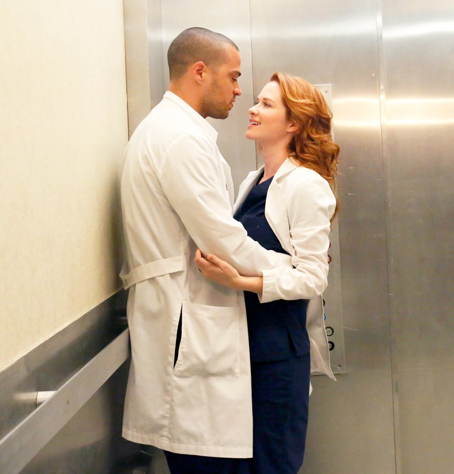 Jesse Williams and Sarah Drew on 'Grey's Anatomy'