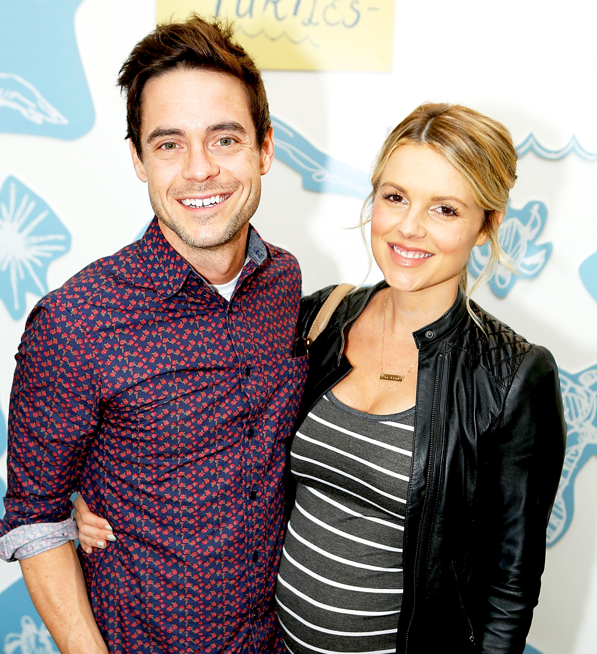 Kevin Manno and Ali Fedotowsky attend TOMS and Oceana to help save the sea turtles on March 24, 2016 at Au Fudge in West Hollywood, California.