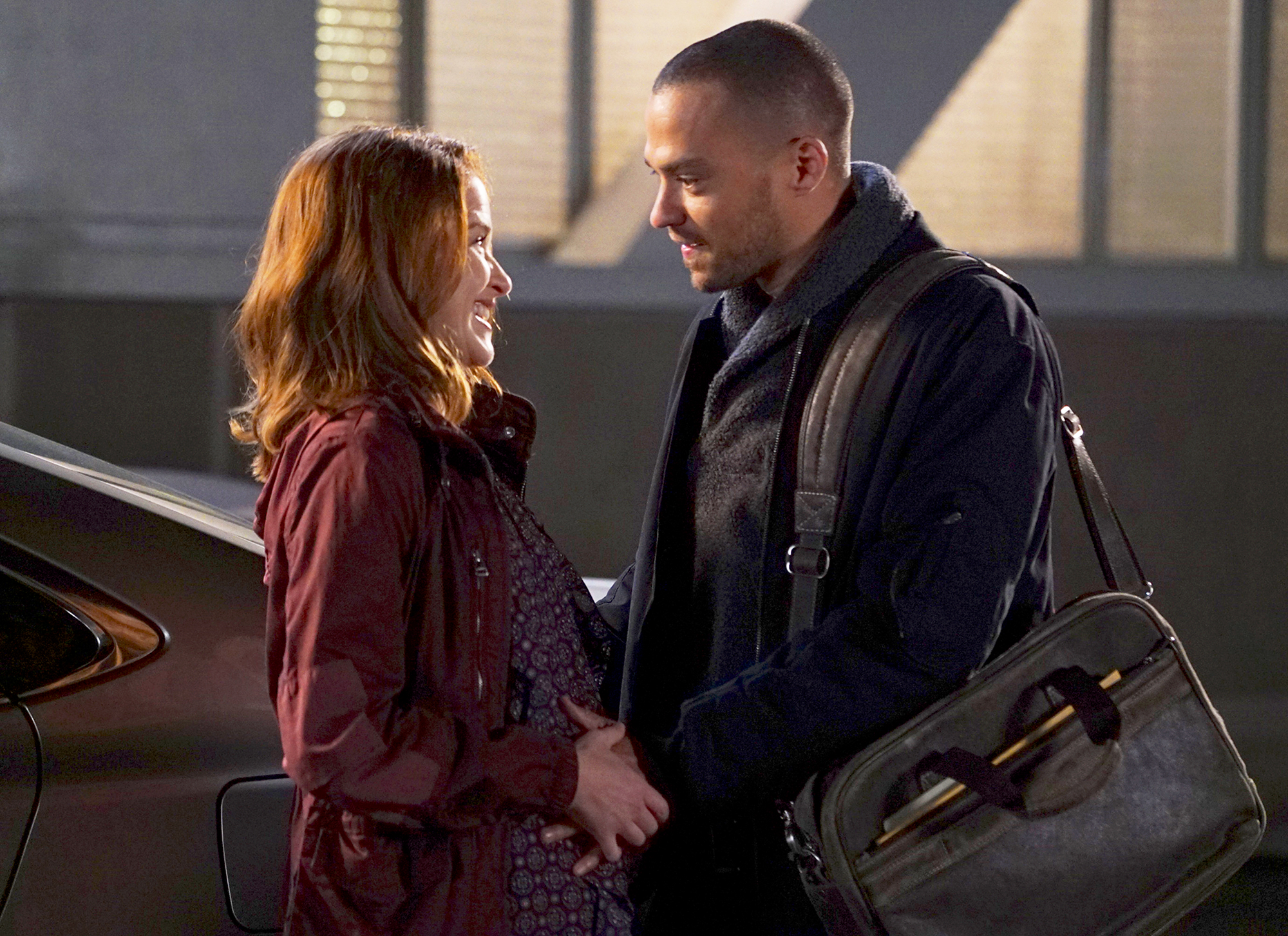 Jesse Williams and Sarah Drew on 'Grey's Anatomy' Gallery - April's pregnancy scare was a turning point in her and Jackson's relationship. Although Jackson was ready to marry April and raise their child together, she was relieved upon realizing that she's not expecting.