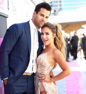 Eric Decker and Jessie James Decker attend the 52nd Academy Of Country Music 2017 Awards at T-Mobile Arena in Las Vegas, Nevada.