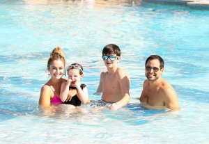 Molly Mesnick and Jason Mesnick with their daughter Riley and son Ty enjoyed some vacation time at Beaches Turks & Caicos Resort Villages & Spa on January 30, 2018 in Providenciales, Turks and Caicos.