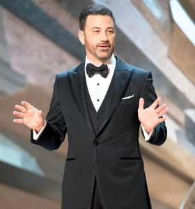 Host Jimmy Kimmel during the 90th Annual Academy Awards show on March 4, 2018 in Hollywood, California.
