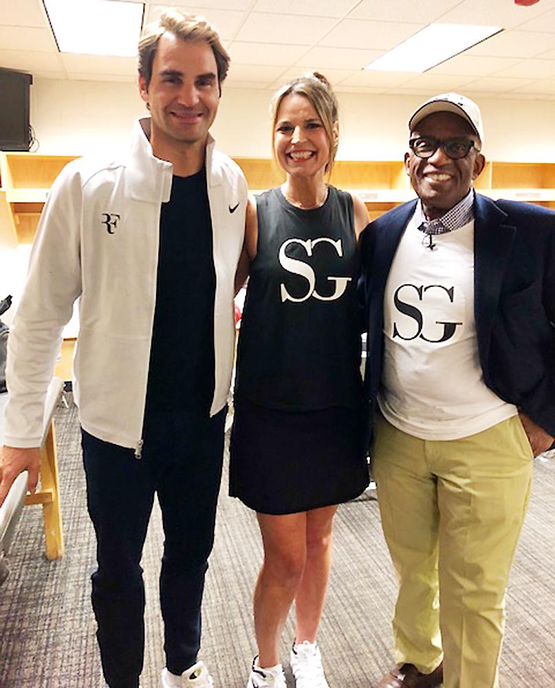 Roger Federer Savannah Guthrie Al Roker