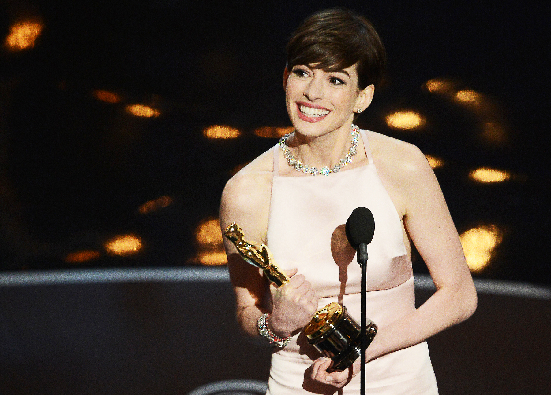 Anne Hathaway Addresses Controversial Dress Oscars 2013