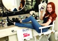 Madelaine Petsch at the Bioré Pop-Up Skin Spa