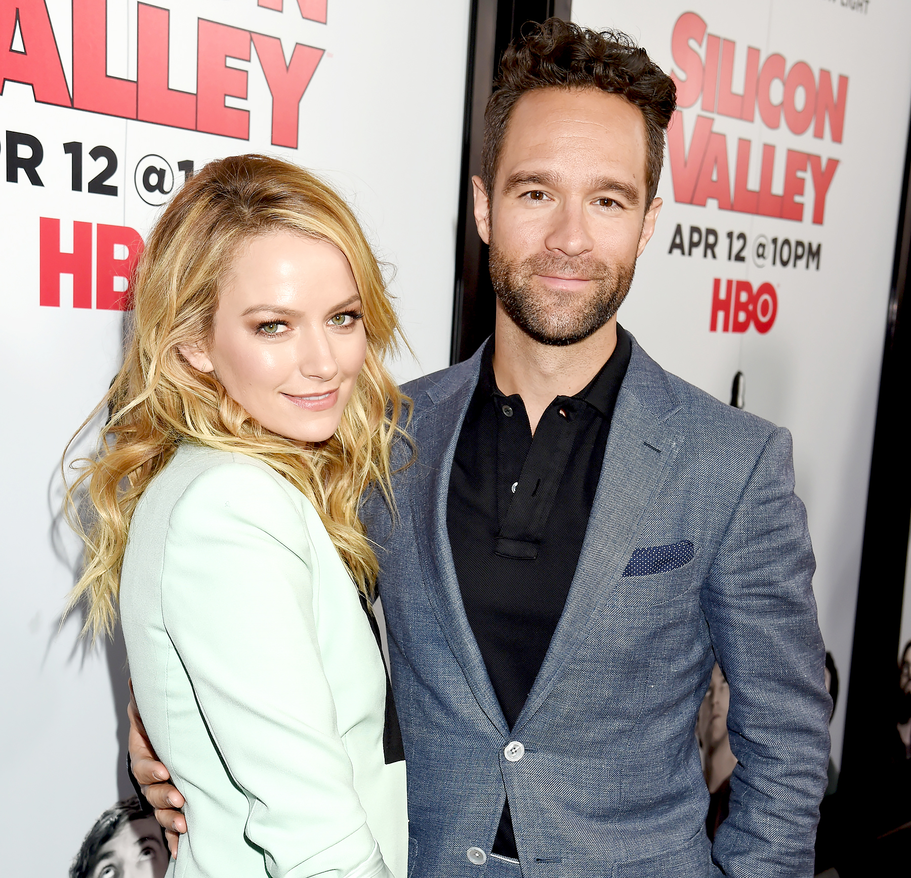 """Becki-Newton-and-Chris-Diamantopoulos - Becki Newton and Chris Diamantopoulos attend the HBO """"Silicon Valley"""" season 2 premiere and after party at the El Capitan Theatre on April 2, 2015 in Hollywood, California."""