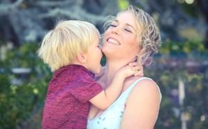 Celeste Erlach and son
