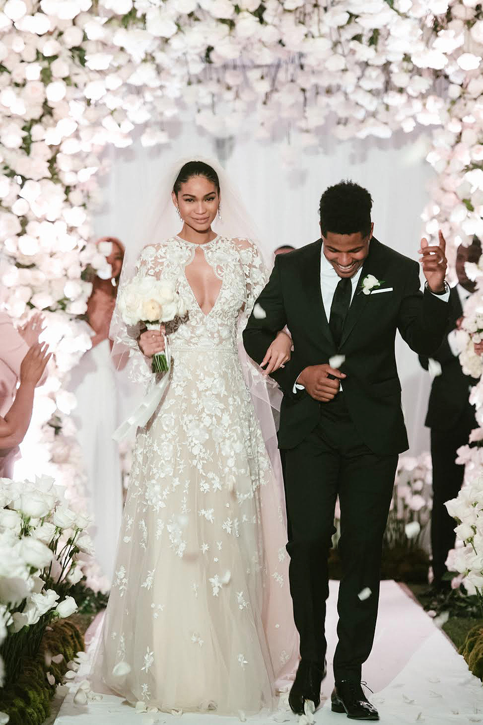 Chanel Iman Marries Sterling Shepard See Her Dress And More Pics