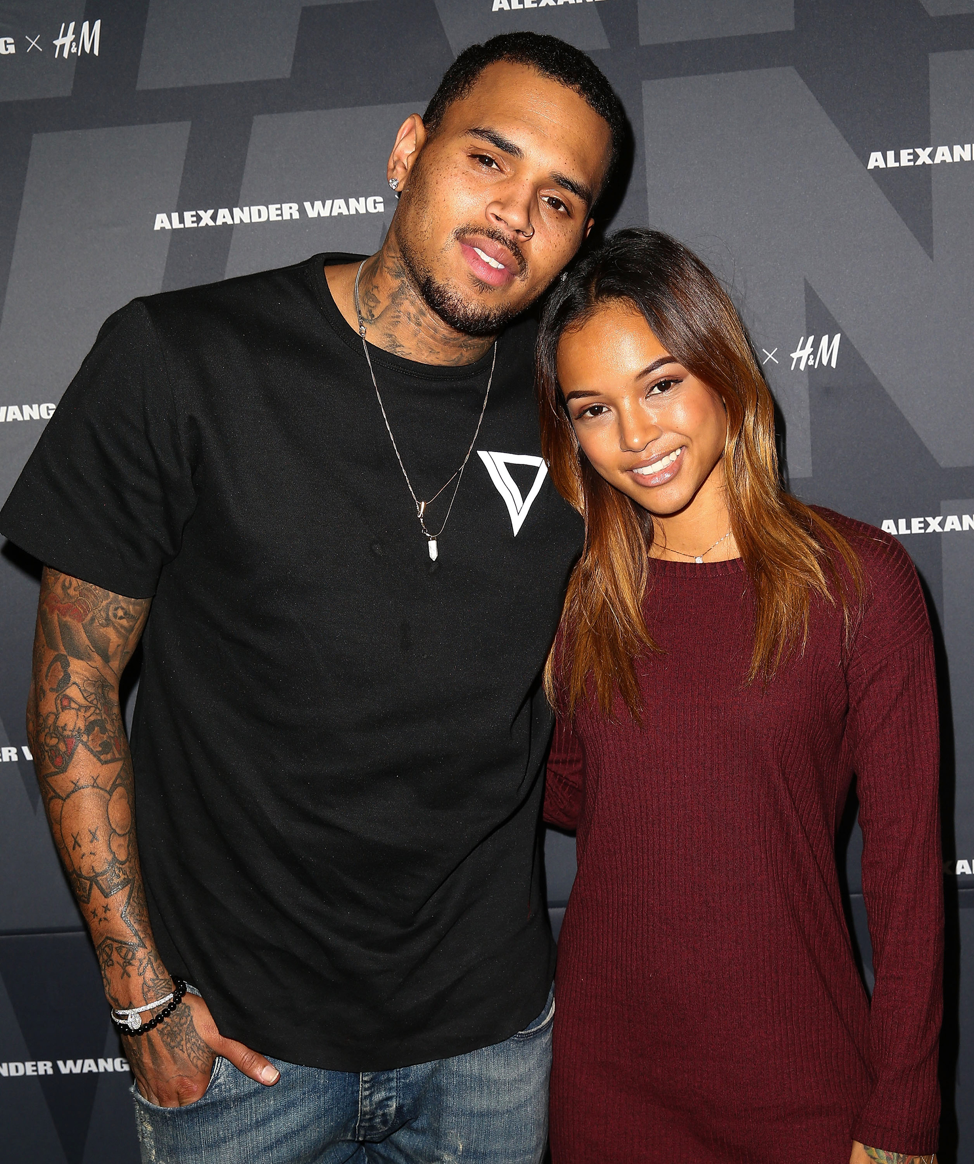 new product c7281 1a1fb ... game 3  Chris Brown Karrueche Tran, Victor Cruz Look Good Together ...