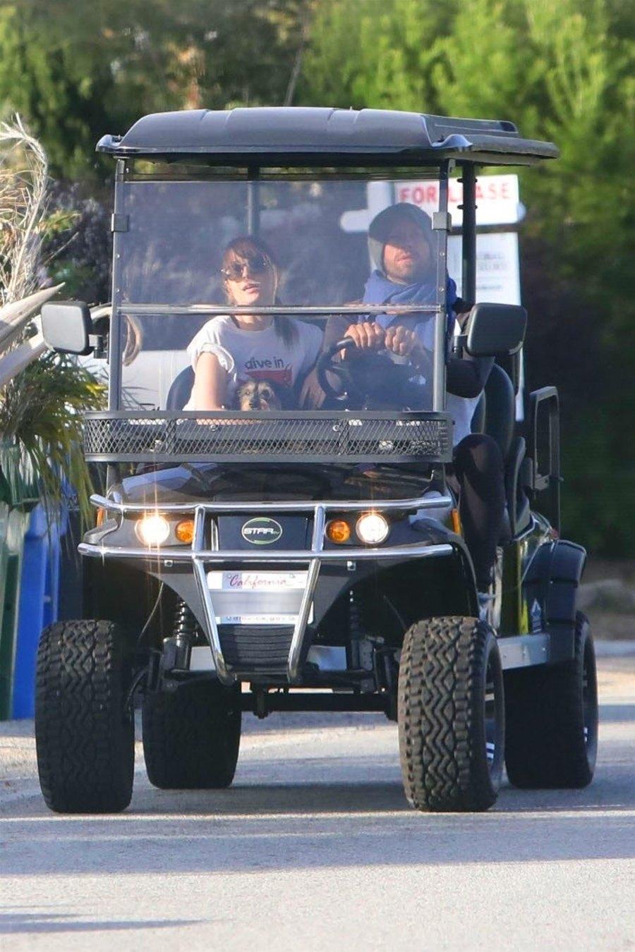 Chris Martin and Dakota Johnson date golf cart