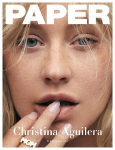 Christina Aguilera on the cover of 'Paper.'