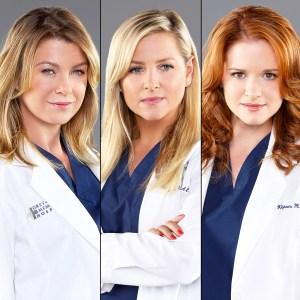 Ellen Pompeo, Jessica Capshaw and Sarah Drew on 'Grey's Anatomy'